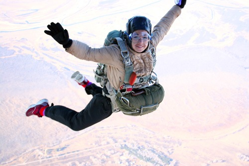 Первые самостоятельные прыжки