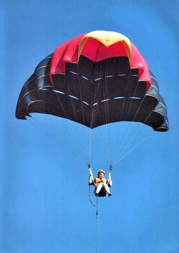 Полет на парашюте. Буксировка